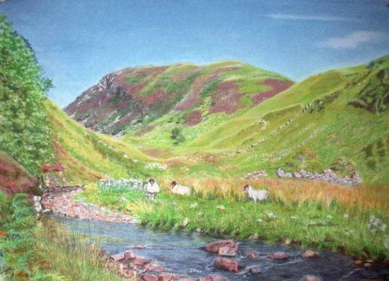 Clachaig from Ivy Rock - 2007 Pastel