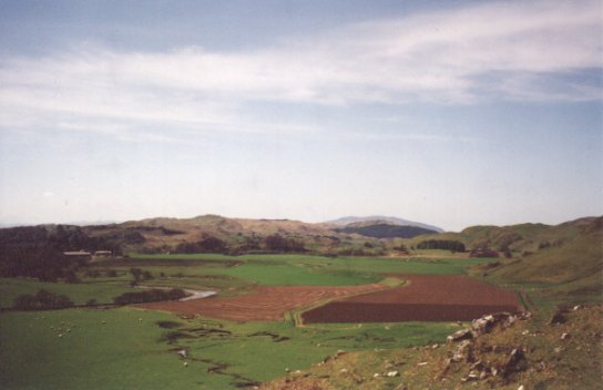 May 01, A view looking down the glen over the fields